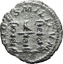 ELAGABALUS 220AD Silver Authentic Rare Ancient Roman Coin Three standards i60310