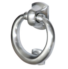 Satin / Bushed Chrome Ring Style Door Knocker (SCP28)