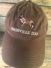 Nashville ZOO Brown Adjustable Adult Cap Hat