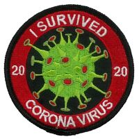 TP03  I SURVIVED BIOHAZARD CRISIS of 2020 EMBROIDERED IRON ON PATCH TOILET PAPER