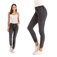 Women Leggings Skinny Elastic Waist Jeans Trousers Denim Pencil Pants Jeggings