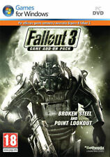 FALLOUT 3 GAME ADD-ON PACK BROKEN STEEL and POINT LOOKOUT - PC Windows - NUOVO