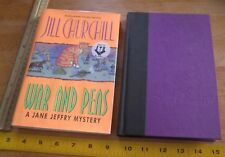 Jill Churchill War and Peas Jane Jefry mystery 1st edition signed hardcover book