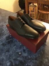 New black bovine grained leather oxford bally tayson shoes US 9 MSRP $425