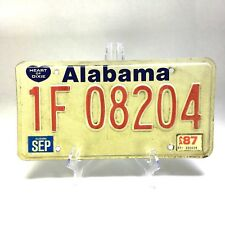 ALABAMA Heart of Dixie License Plate Expired 1987 #1F08204