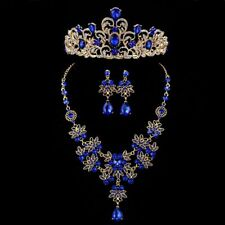 Bridal Jewelry Set Rhinestone Crystal Tiaras Crown Earrings Wedding Bride Luxury