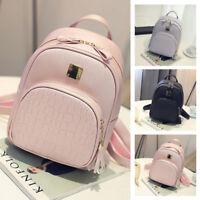 Girls Womens Fashion Leather Travel Shoulder Backpack School Rucksack Bags Nice.
