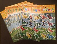 Dinosaur Stickers - 10 Sheets For Party Bags, Prizes, Stocking Fillers