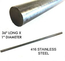 "416 Stainless Steel Round Rod Unpolished Mill Finish ASTM A484 OD 1""∅ 36"" Length"