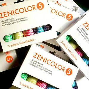 Zenicolor 5 - Melt & Pour Pigmenting System - Specially Deisigned - Non Bleed