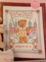 Cross stitch chart New Baby Naissance Échantillonneur Bear /& poney rose Flowerpower 37-uk