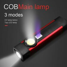 COB LED Mini Pen Light UV Magnet USB Rechargeable Work Torch Flashlight Lamp