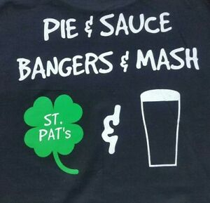 GUINNESS T Shirt Sz XL BLACK - Irish Pub St Patricks Day (Image Back & Front)