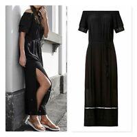 SEED HERITAGE Womens Size 14 Black Romantic Maxi Dress RRP$159.95