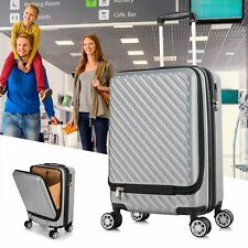 20'' Carry On Luggage Hardcase Spinner Travel Suitcase w/Computer Bag ABS Silver