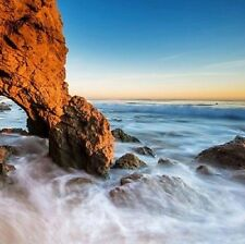 Painting Pictures Canvas Print Wall Art Home Decor Brown Rock Blue Sea Framed