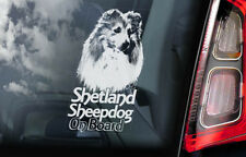 SHETLAND SHEEPDOG Car Sticker, Sheltie Window Decal Sign Dog Pet Gift - V02