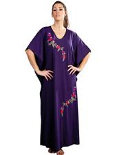 Womens Kaftan Long Cotton Ladies Maxi Gown Nighty