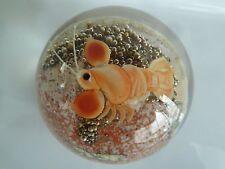 Orient & Flume Crystal Cased Crustacean Paperweight Lee Hudin 1982 EC