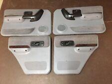 97-01 JEEP CHEROKEE XJ SPORT CLASSIC MIST GRAY SET OF DOOR PANELS WOODGRAIN OEM