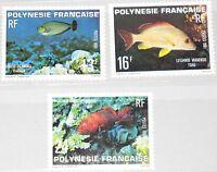FRENCH POLYNESIA POLYNESIEN 1981 322-24 341-43 Fish Fische Meerestiere MNH