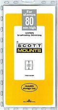 Prinz Scott Stamp Mount 80/240 BLACK Background Pack of 10