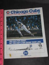 8-17-85 PROGRAM 1985 SCORECARD PHILLIES CUBS ALL STATS souvenir baseball BUD ad