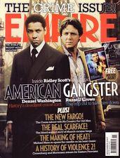Empire Magazine #221 Denzel Washington Russell Crowe American Gangster