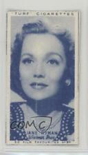 1948 Turf Film Favourites Tobacco Base #50 Jane Wyman Non-Sports Card 0a6