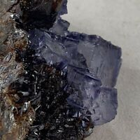 Purple Fluorite On Sphalerite Matrix   Elmwood Mine, Tennessee
