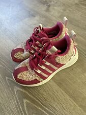 Girls Adidas Shoes Athletic Pink Lace Children's Us 12c