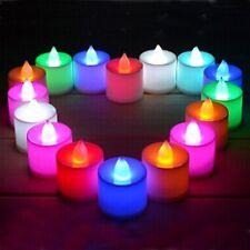 12 X COULEUR CHANGEANTE LED BOUGIE CHAUFFE-PLAT PILE SANS FLAMMES FÊTES Noël