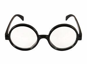 Wizard Glasses - Clear Lens Harry Potter Fancy Dress Retro Where's Wally Geek