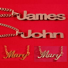 Personalized (Gold/Steel) Name Plate Necklace