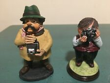 2 Flambro Miniature Collection Photography Camera Figurines British Mr. Stubbs