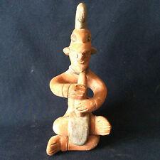 Mexique reproduction statuette Maya terre cuite Amérique du Sud ^