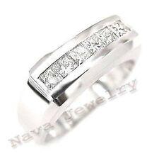 1.00 Ct. Princess Cut Men's Diamond Ring Channel Set