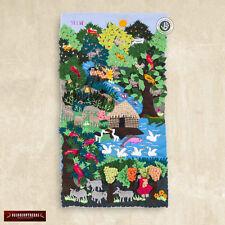 "Quilted wall hangings 17.5""- Arpillera Wall Art -Amazon Jungle - Peruvian fabric"