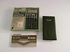 Sharp EL 6250 Dial Master Vintage Calculator NEW ALL PACKAGING INCLUDED