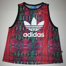 Adidas Originals Soccer Tank Top AJ8538 Women's Large (L) Multicolor Snake Print