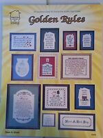 Golden Rules Cross Stitch Leaflet / Homestead Designs GRB 1985 / 21  Patterns