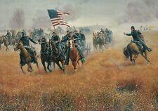 Captain Hubert Dilger at Gettysburg, near Barlow's Knoll - Civil War Postcard