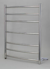 Kendal Curved Stainless Steel Electric Towel Rail  800mm high x 600mm wide