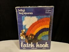 Vtg 1978 Betty's Rug Squares Rainbow 714 Latch Hook Crafts Picture Pillow Kit