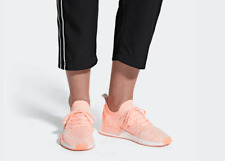 Adidas Original Women Size 6-9 NMD R1 STLT Primeknit Clear Orange Peach AQ1119