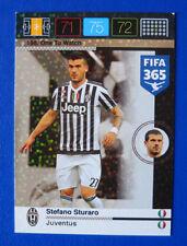 CARD PANINI ADRENALYN FIFA 365 2015-16 2016 N.198 STURARO JUVENTUS ONE TO WATCH