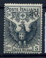 Italia Regno 1915 Sass. 104 Nuovo ** 100% Pro Croce Rossa