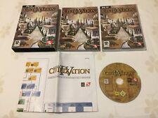 CIVILIZATION IV 4 PC VERSIONE UFFICIALE ITALIANA 1ª Edizione! COMPLETO E RARO!!