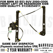 FOR BMW X5 E53 SUV 2000-2006 FRONT LEFT SIDE NEAR WINDOW REGULATOR WITH MOTOR