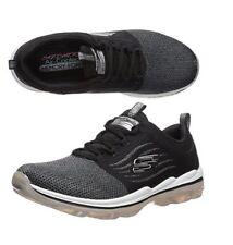 NEW Skechers Sport Women's Skech Air Deluxe Walking Sneaker Shoe Black White 7.5